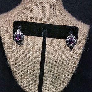 Vintage Silver Brighton Hoop Earrings